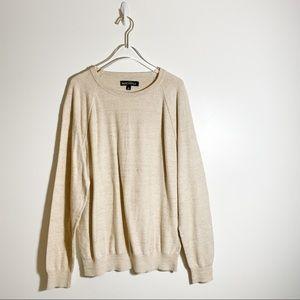 J. Crew Mercantile Men Textured Crewneck Sweater Size Large